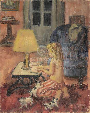 "WALDO PEIRCE (American, 1884-1970) ""ANNA""."
