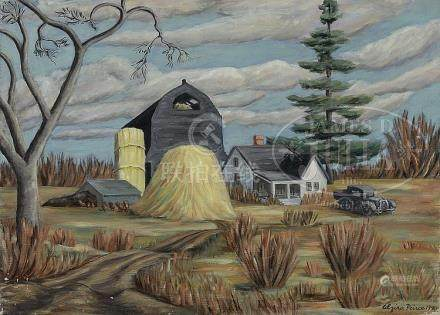 "ALZIRA (BOEHM) PEIRCE (American, 1908-2010) ""THE BLACK BARN,"
