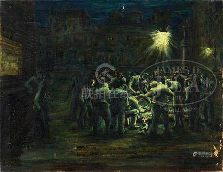 ALZIRA (BOEHM) PEIRCE (American, 1908-2010) TWO WORKS: NIGHT