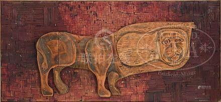 BERNARD LANGLAIS (American, 1923-1977) LION.