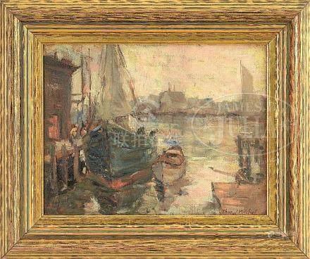 "THOMAS JOHN MITCHELL (American, 1875-1940) ""GLOUCESTER FISHI"