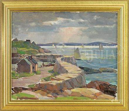 CARL W. PETERS (American, 1897-1980) LANES COVE SEAWALL, CAP
