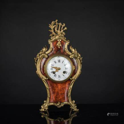 19th French Buhler Tortoiseshell Mantel Clock