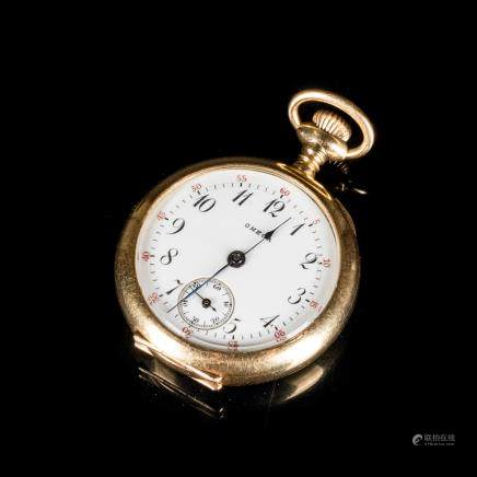 Antique 14kt Gold Open-Faced Pocket Watch