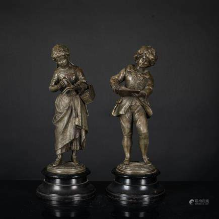 Antique Pair of Bronze Figures