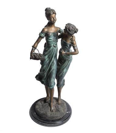 Antique Bronze Figure Girls