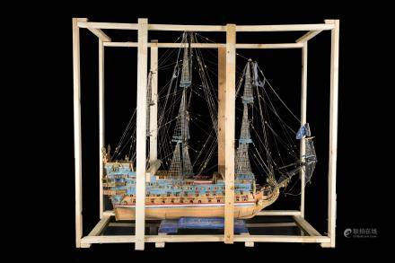 18th Swedish Antique Ship Model