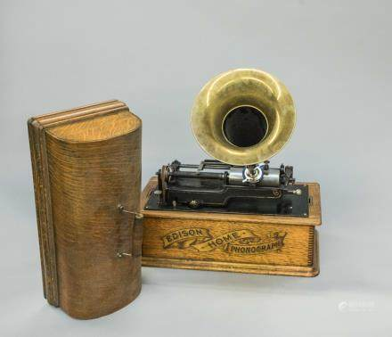 1850-1900 Edison Home Phonograph Cylinder Player