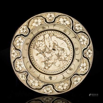Late Ming Antique Cizhou Porcelain Dish