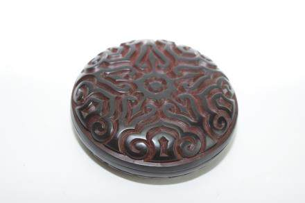 Qing/Republic Chinese Carved Black Lacquer Box