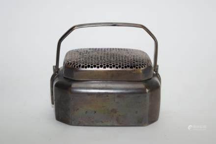 Qing Chinese Bronze Hand Warmer