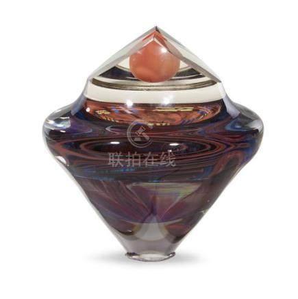 MICHAEL PAVLIK (AMERICAN/CZECH, B. 1941), GLASS SCULPTURE, 1