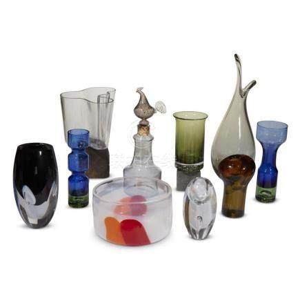 A COLLECTION OF SCANDINAVIAN GLASS, CIRCA 1960