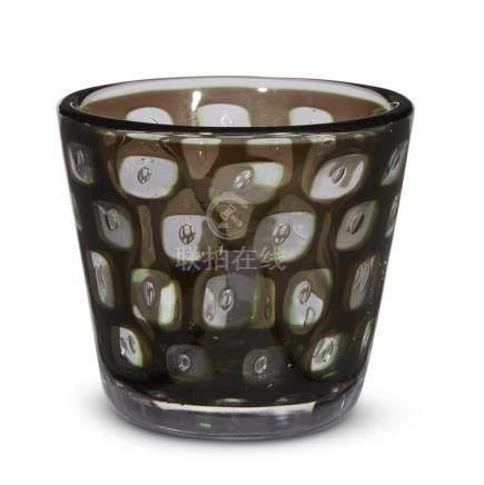 EDWARD HALD (SWEDISH, 1883-1980), GRAAL GLASS VASE, SWEDEN,