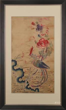 CHINESE KESI PANEL OF PHOENIX, QING DYNASTY