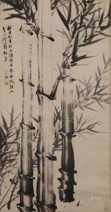 CHINESE SCROLL PAINTING OF BAMBOO, CHEN DAOFU