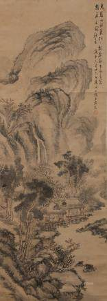 CHINESE SCROLL PAINTING OF LANDSCAPE, DAI BENXIAO