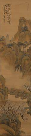 CHINESE SCROLL PAINTING OF LANDSCAPE, QIAN DU