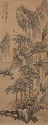CHINESE SCROLL PAINTING, FANG QICHEN