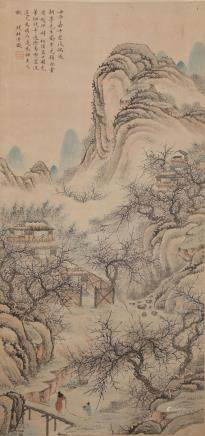 CHINESE SCROLL PAINTING, QIAN DU
