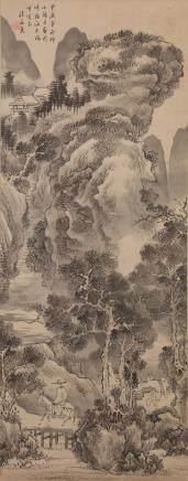 CHINESE SCROLL PAINTING, FA RUO ZHEN