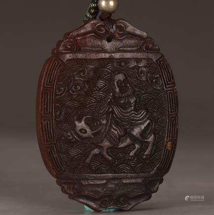 CHINESE PEKING GLASS PLAQUE, QING DYNASTY