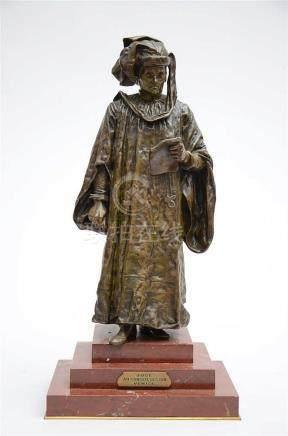 R. Colombo: bronze sculpture 'judge' (65cm)