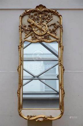 A gilt mirror (58x150cm)