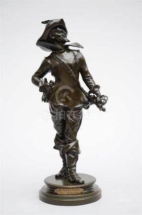 Drouot: bronze sculpture 'le mousquetaire' (48cm)
