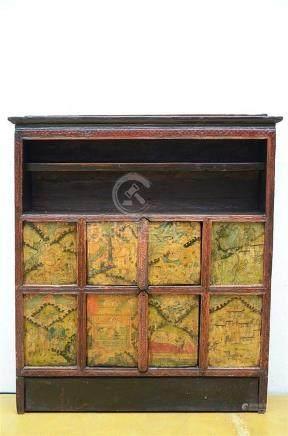 Tibetan cupboard with erotic scenes (24x110x124cm)