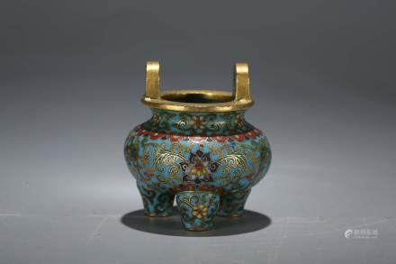 A Chinese Cloisonné Pot