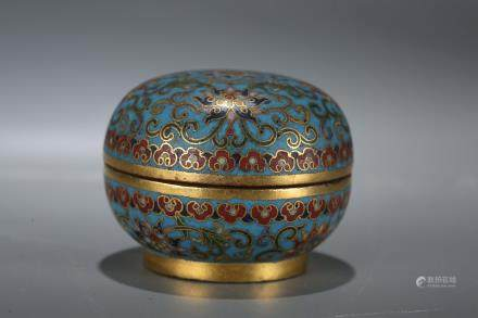 A Chinese Cloisonné Box with Cover