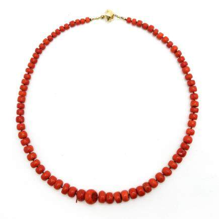 19th Century Red Coral Necklace