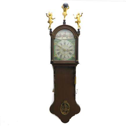 Dutch Staartklock or Hanging Wall Clock