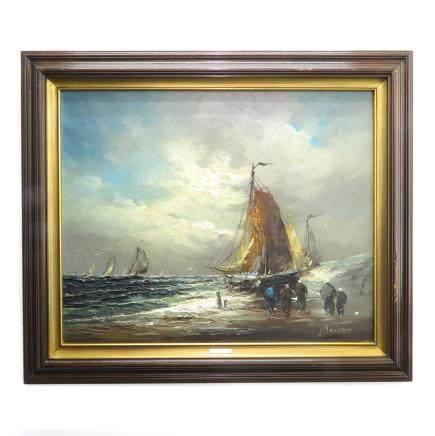 Oil on Canvas Signed Johannes Bevort