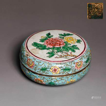 CHINESE QING DYNASTY CLOISONNE COVER BOX
