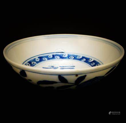 Ming Dynasty, Wanli blue and white plate