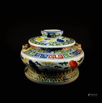 Late Qing Dynasty FAMILLE-ROSE POT