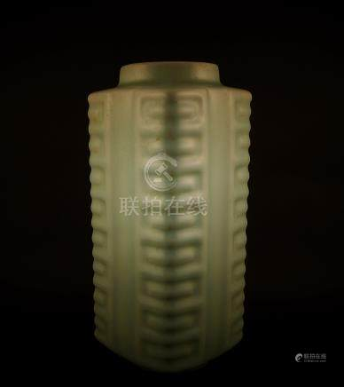 A Chinese Longquan Cong Vase