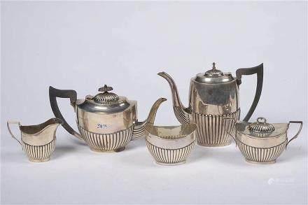 VINER Edward (XXème) - Service à thé et à café en argent déc