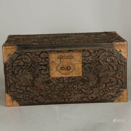 CHINESE ZITAN WOOD BOX