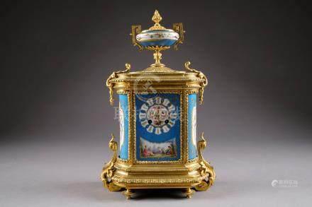 Pendule borne Louis XVI. Montu…