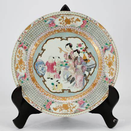 CHINESE CANTON ENAMEL PORCELAIN CHARGER