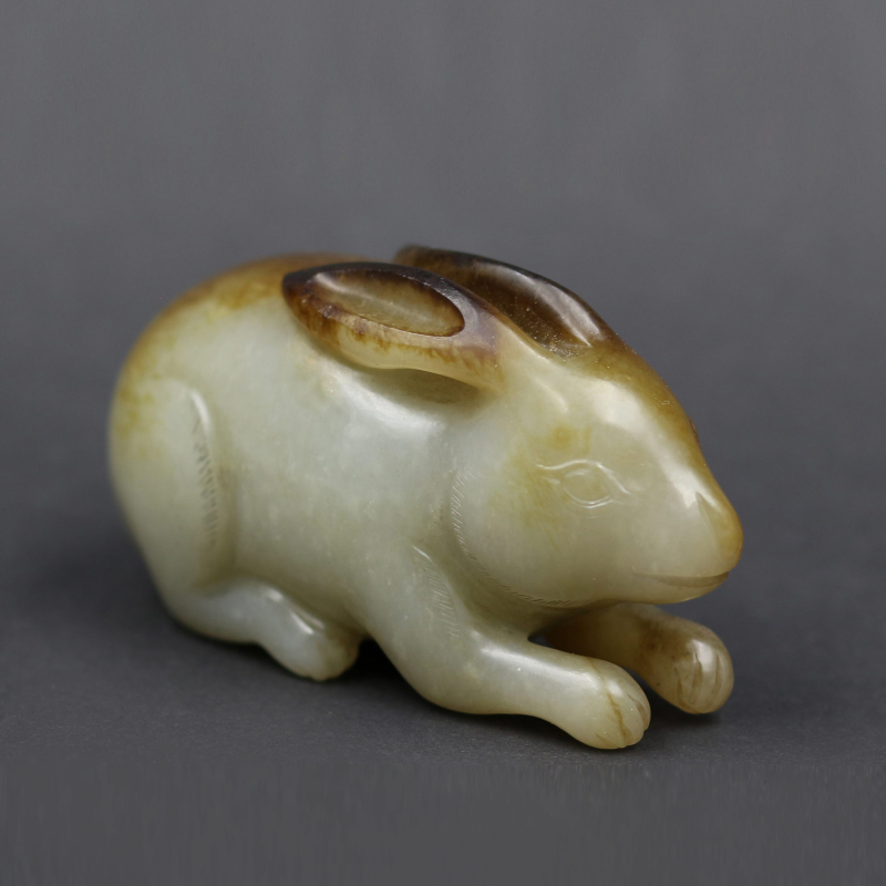 Chinese White Jade Carved Ornament