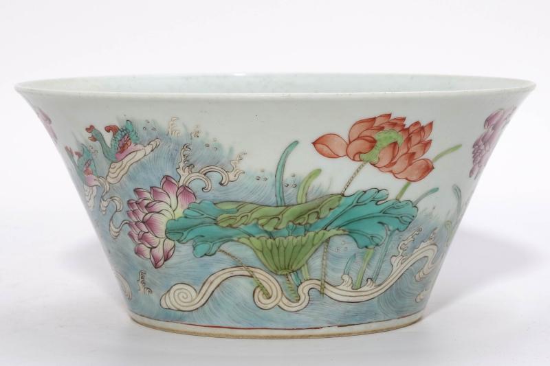 A Famille Rose Floral Bowl