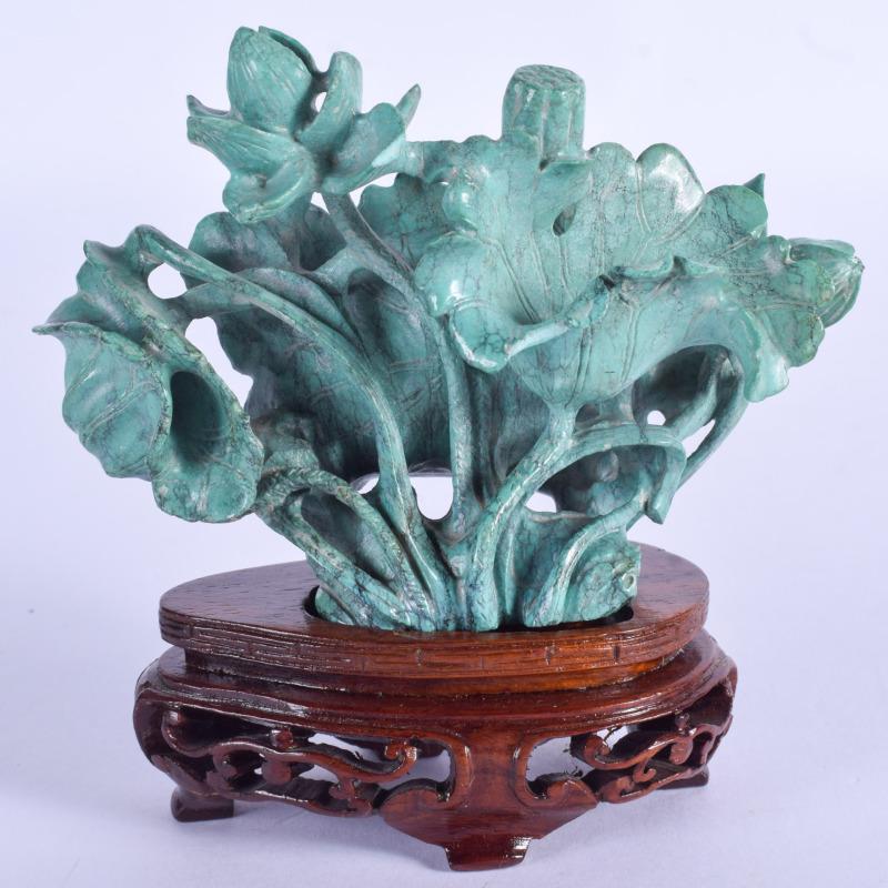 绿松石雕摆件