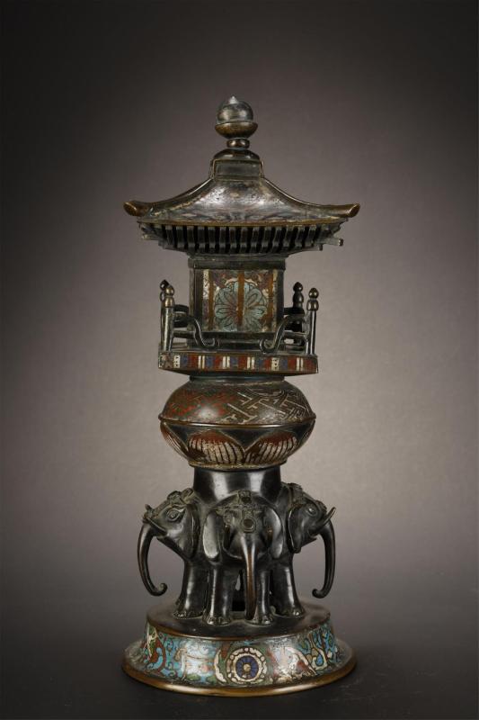 Qing, Cloisonne Buddha Tower