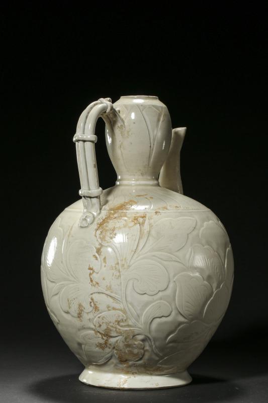 定窑白釉壶